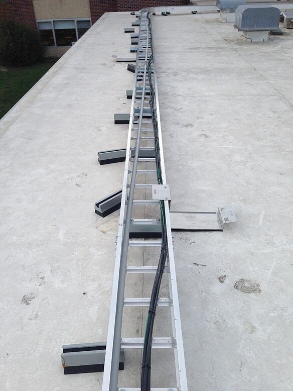 Combiner output cable tray