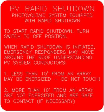 Rapid-Shutdown-Label