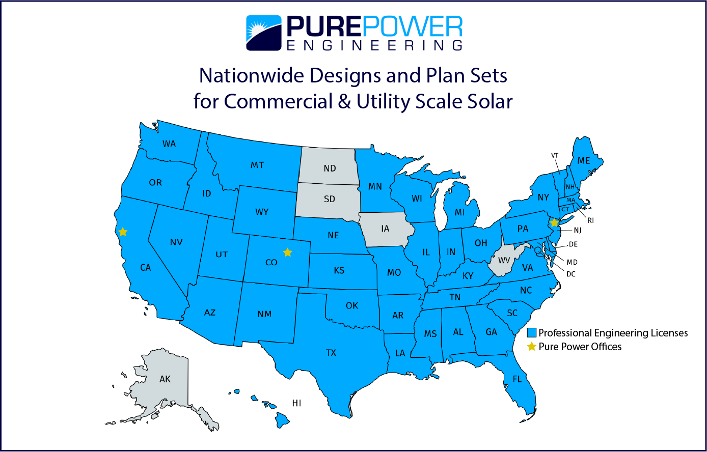 Nationwide Designs and Plan Sets for Commercial & Utility Scale Solar